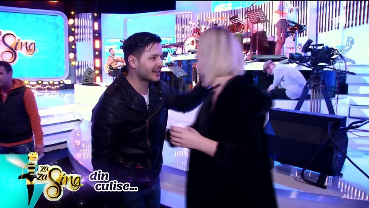 Florin Ristei, Diana Munteanu și Feli, în culisele emisiunii Za Za Sing