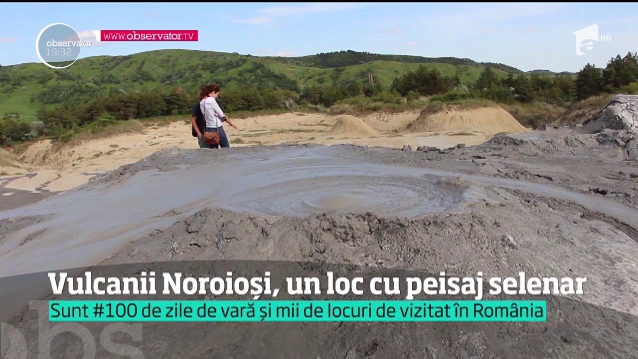 #100 de zile de vară. Vulcanii Noroioşi, un loc cu peisaj selenar. Tu i-ai vizitat?