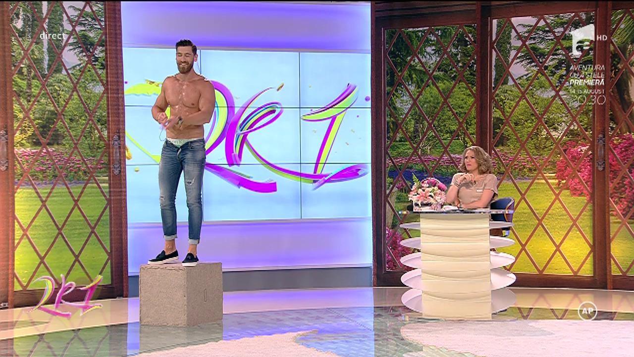 Cea mai sexy ISPITĂ MASCULINĂ, un adevărat show de striptease. Cum a reacţionat Mirela Vaida când a văzut mişcările lui Robert Popescu
