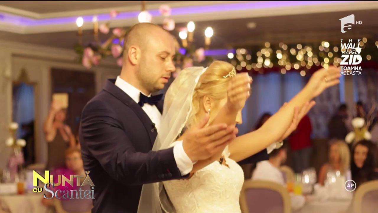 Andreea și Viorel își declară iubirea în pași de dans, sub privirile încântate ale invitaților