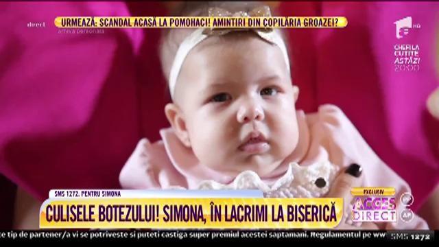 Culisele botezului fiicei Simonei Gherghe! Prezentatoarea, în lacrimi la biserică