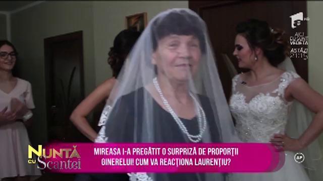 O tradiție de nuntă mai rar întâlnită. Bunica poartă voalul miresei!