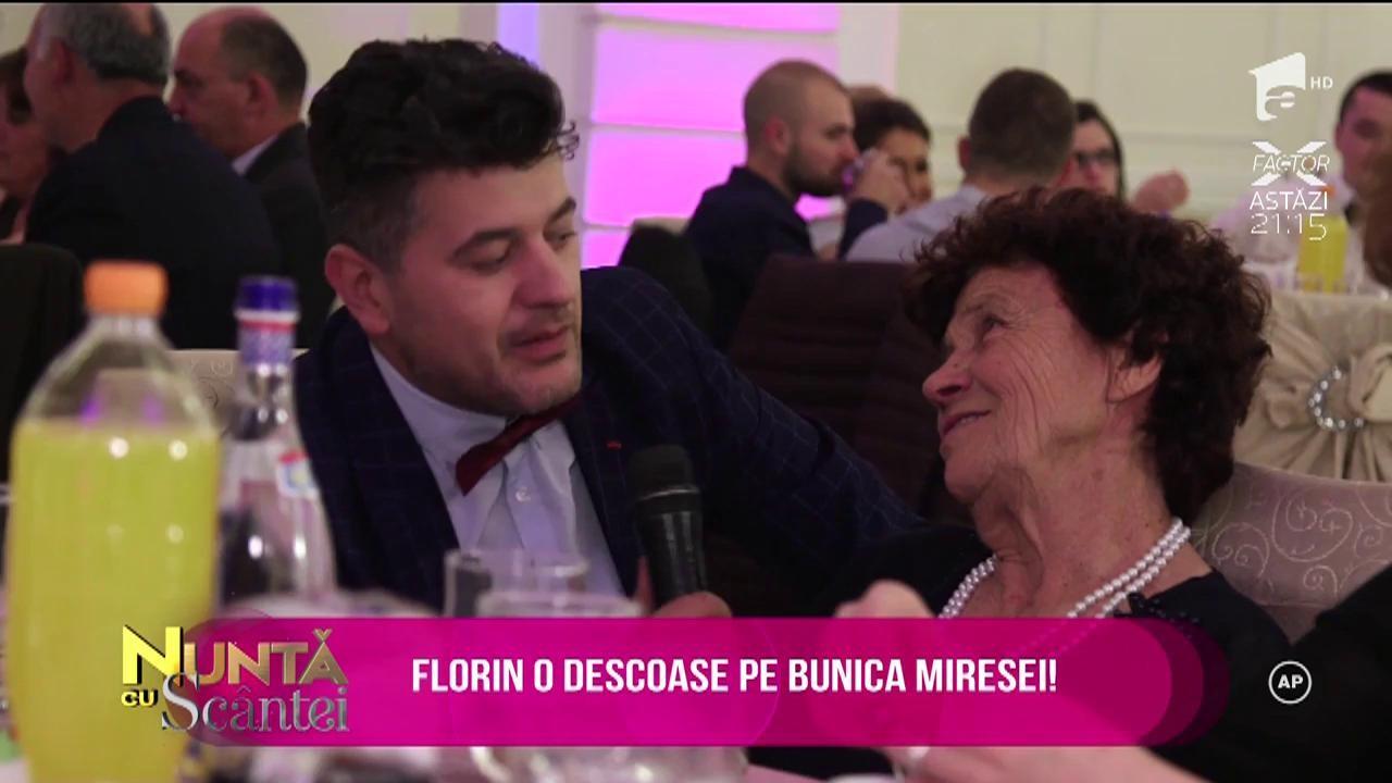 Bunica miresei este în centrul atenției. Florin o ia la întrebări pe buni!
