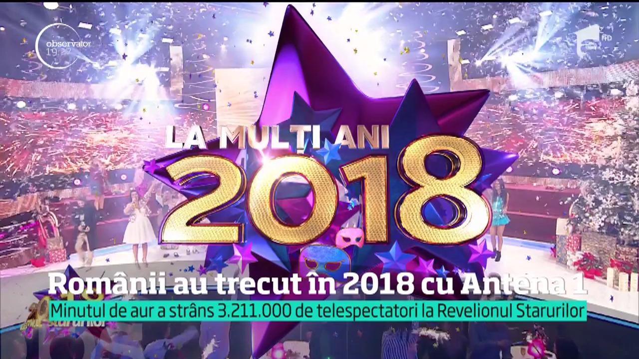 Românii au trecut în 2018 cu Antena 1. Dan Negru a strâns în faţa televizoarelor peste trei milioane de telespectatori: Florin Piersic a fost vedeta serii!