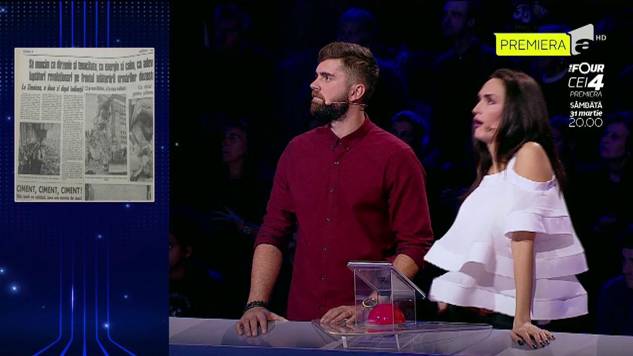 Socoteala de acasă nu s-a potrivit pentru Alexandra și Cozmin! 500 de lei, cu atât au rămas concurenții după ce au ghicit vârsta celor șapte personaje