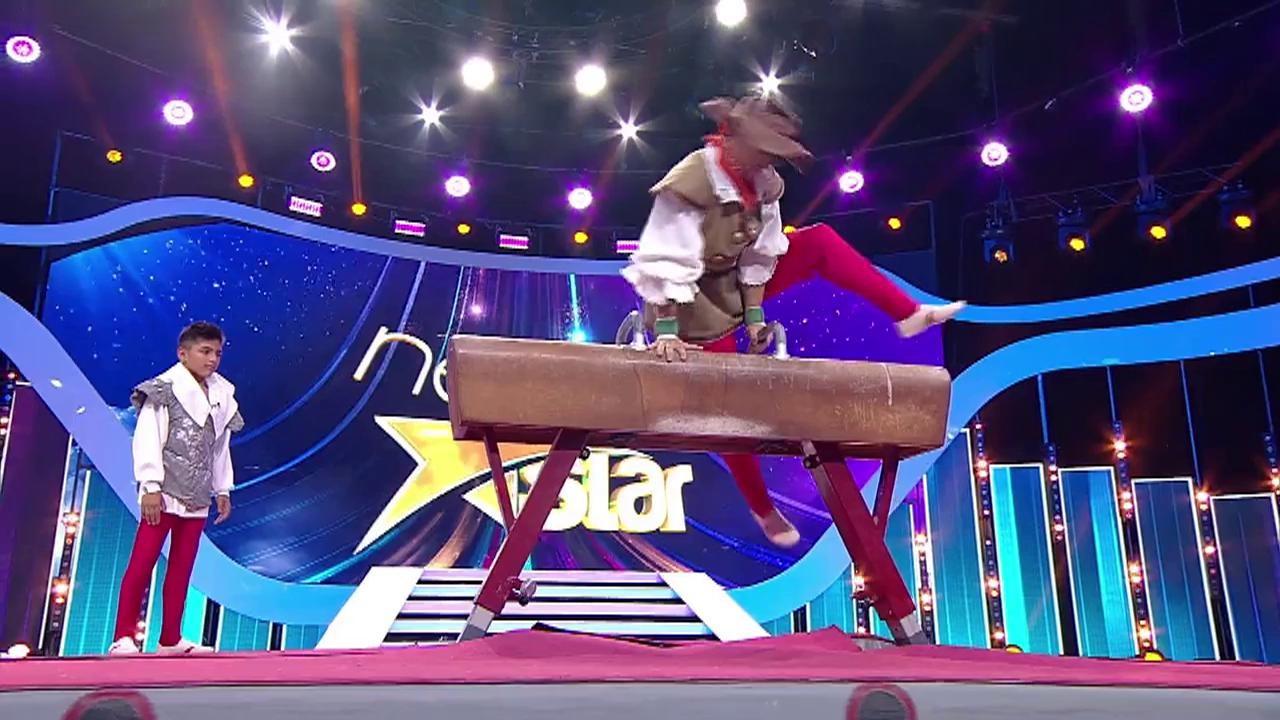 """Moment impresionant de gimnastică la """"Next Star""""! David Puicea, băiatul de 12 ani care a lăsat lumea cu gura căscată! I-a dat lecții lui Marian Drăgulescu"""