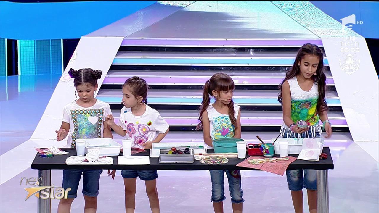 """Fetițele din trupa Ebrucuk fac pictură pe apă, la """"Next Star"""""""