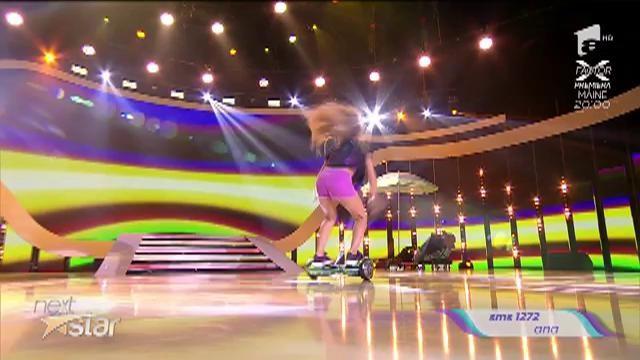 "Ana Beregoi, balet pe hoverboard la ""Next Star"""