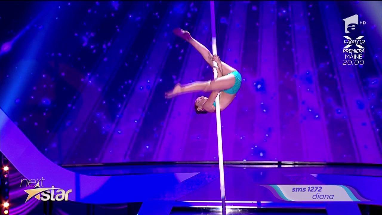 Diana Romaniuc, acrobație la bară!
