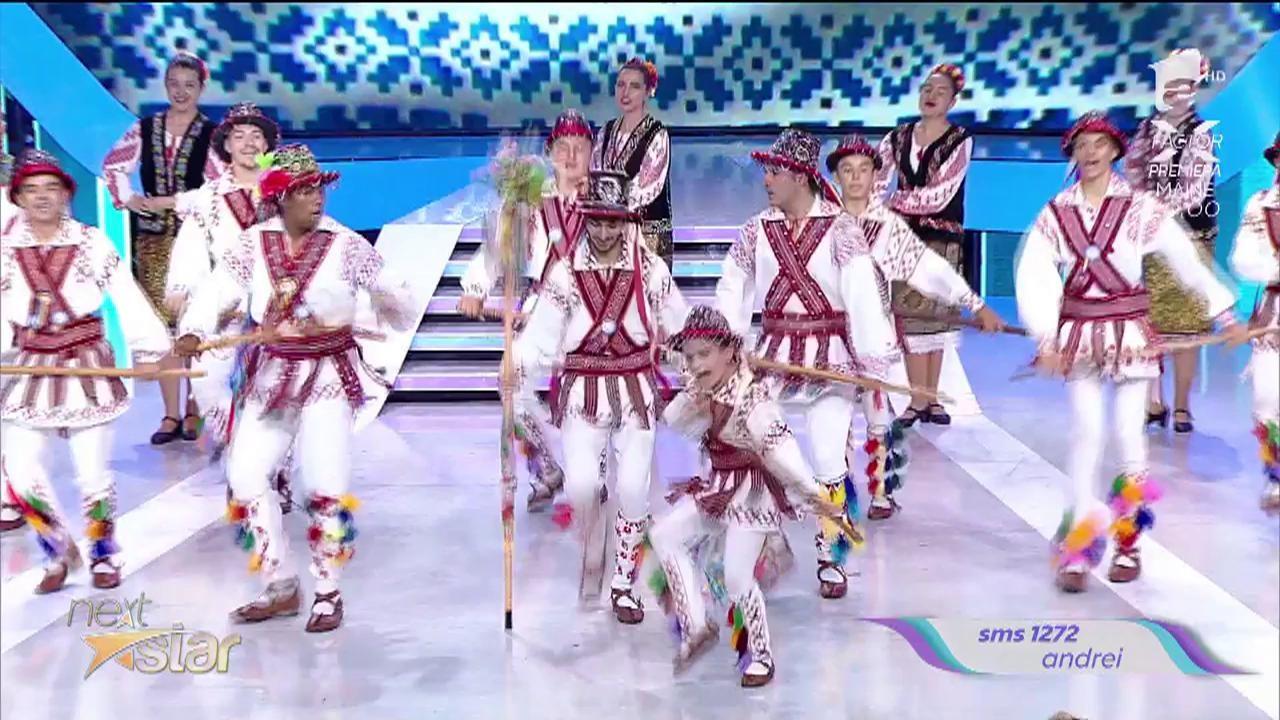 Andrei Ileanu, dans popular alături de Ansamblul Doina Bascovului
