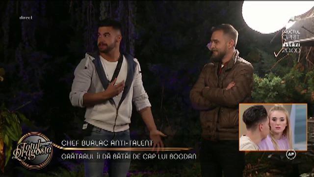 Criză de râs pentru concurente! Burlacul Bogdan a fost pedepsit