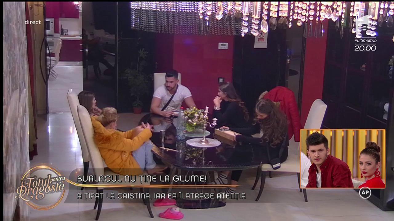 """Conflict aprins între burlacul și Cristina! Bogdan: """"Țărancă din Dragomirești"""""""