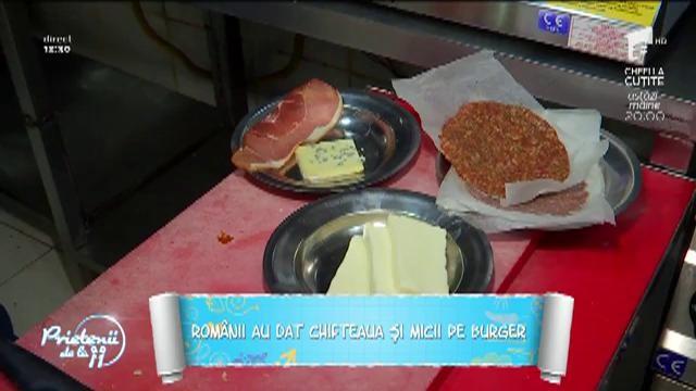 Românii au dat chifteaua și micii pe burger