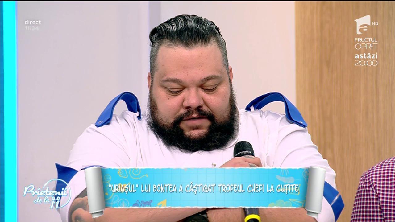 """""""Uriaşul"""" lui Bontea a câştigat trofeul """"Chefi la cuţite""""! Mihai Munteanu, eroul tunicilor albastre! """"Finala sezonului şase a avut doi câştigători. Eu şi Silviu!"""""""