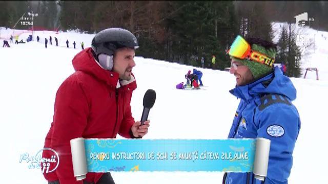 Duţa ia lecţii de schi! Au început petrecerile la munte, iar pârtiile sunt pline