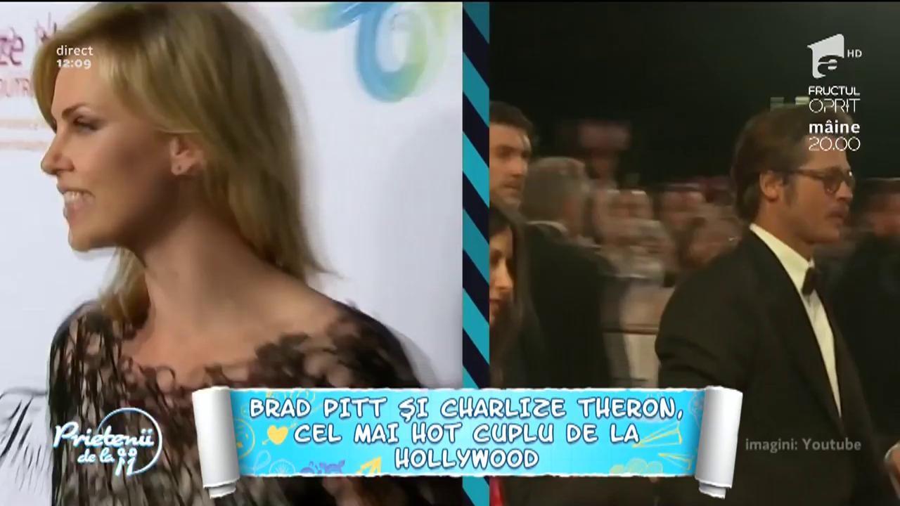 Brad Pitt și Charlize Theron, cel mai nou cuplu de la Hollywood