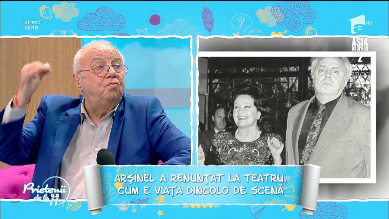 """Cum s-a schimbat viaţa lui Alexandru Arșinel, după ce s-a retras de la conducerea Teatrului de Revistă """"Constantin Tănase"""""""
