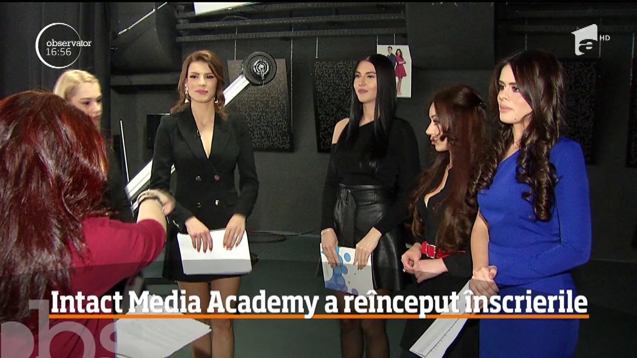 Școala de televizune Intact Media Academy a reînceput înscrierile pentru cursurile de Prezentator şi Reporter TV