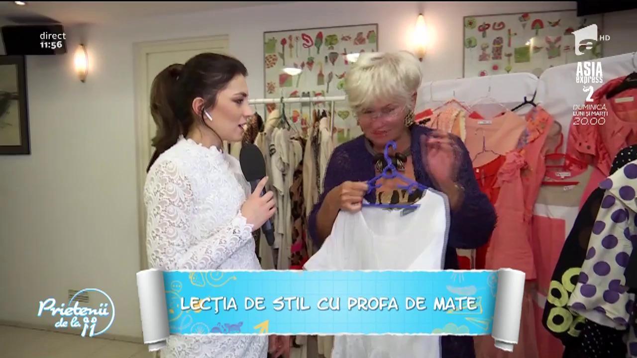 Lecţia de stil cu profa de mate! Monica Tatoiu ne învaţă cum să asortăm hainele cu buline!