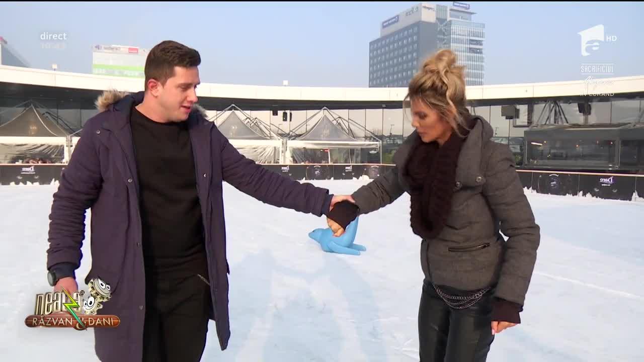 """""""Vecina"""" Ramona Olaru, experienţă nefericită cu patinele pe gheaţă!"""