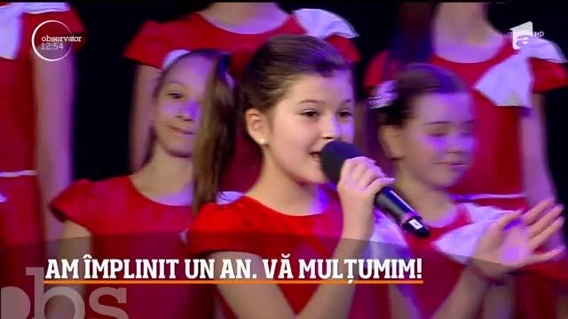 """Un an de Observator 12:00-14:00! Gabriela Sauciuc Cicone și trupa de copii """"Miracol"""", reprezentație inedită în direct, la TV"""