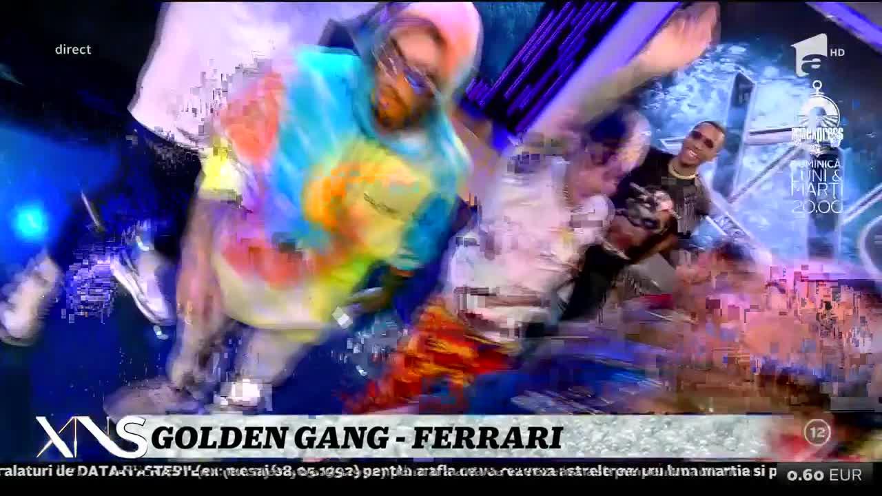 Xtra Night Show. Golden Gang cântă melodia Ferrari