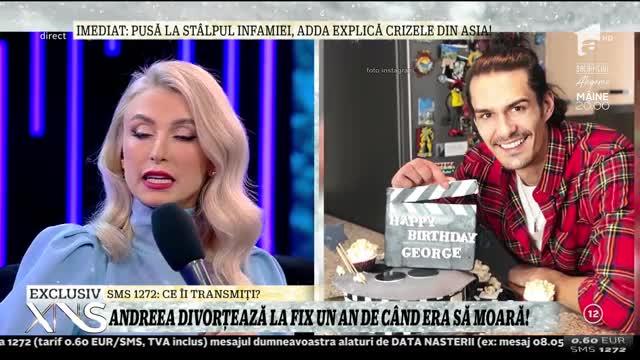"""Andreea Bălan nu s-a mai ferit! Motivul real al divorțului de George Burcea, dezvăluit în direct: """"A mai lipsit niște nopți de acasă"""