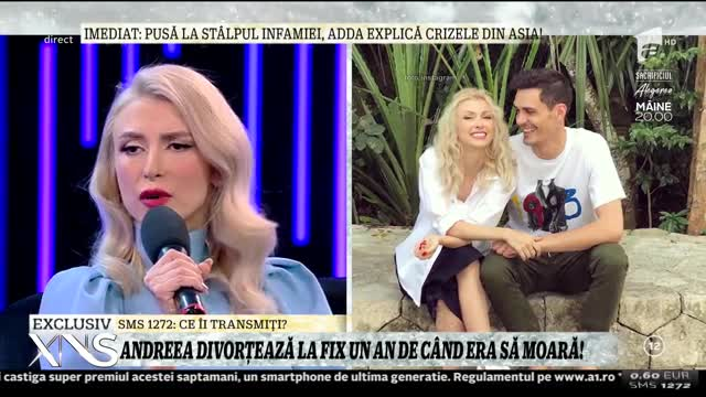 Xtra Night Show. Andreea Bălan, despre scandalul cu droguri: Bănuiam că are pe altcineva sau consumă ceva, dar nu l-am văzut