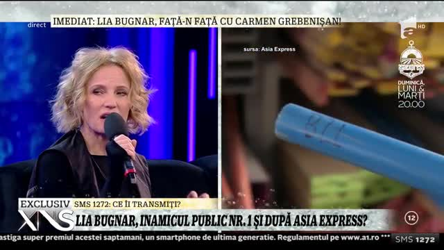Xtra Night Show. Lia Bugnar, despre tensiunile din Asia Express: Din cauza condițiilor vitrege mi s-a atrofiat bunul simț până la disparitie