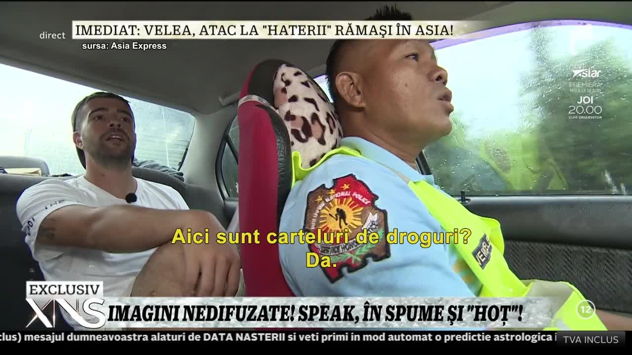 """Imagini nedifuzate din Asia Express! Speak, criză de nervi în timpul unei probe: """"Taci, te rog!"""""""