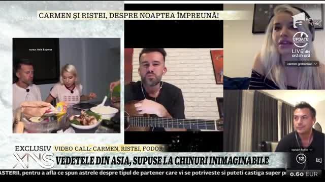 """Florin Ristei și Carmen Grebenișan au dat cărțile pe față! Ce s-a întâmplat după ce s-a stins lumina, cu ei doi în același pat, în """"Asia Express"""" – VIDEO"""