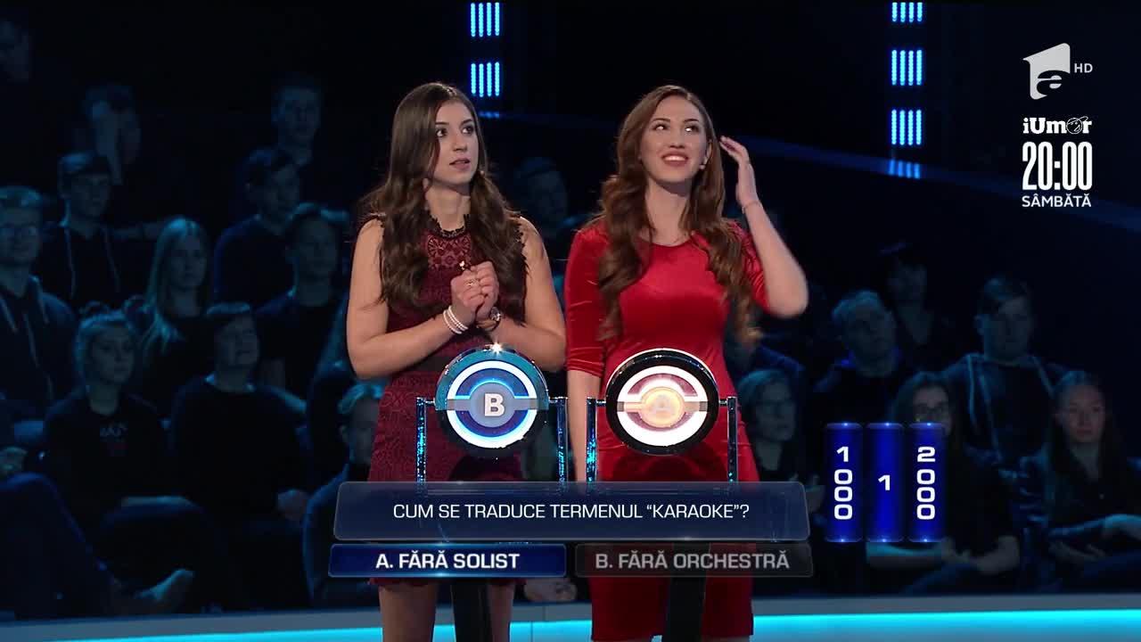 """O """"cădere liberă"""" cu noroc pentru Alina Ștefan și Denisa Gavrilă! Concurentele au câştigat 14.101 RON la The Wall-Marele Zid"""