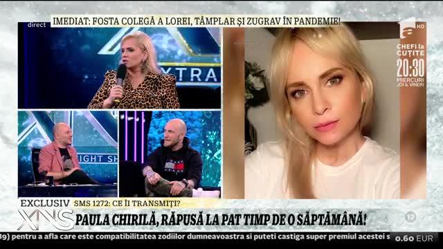"""Paula Chirilă, răpusă la pat timp de o săptămână:  """"Nu puteam respira, nu puteam  vorbi, nu puteam mânca, nu puteam dormi, nu puteam să mă mișc"""""""