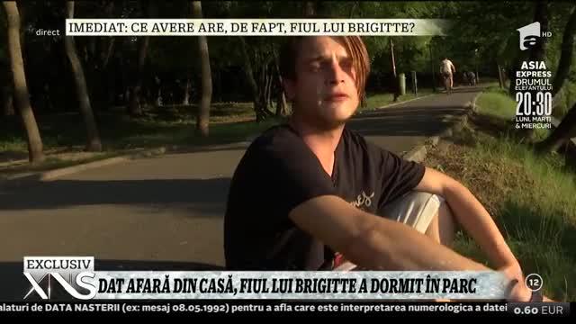 Dat afară din casă, fiul lui Brigitte Pastramă a dormit în parc