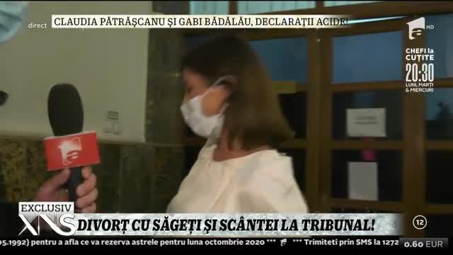 Claudia Pătrăşcanu şi Gabi Bădălău, divorț cu săgeți și scântei la tribunal