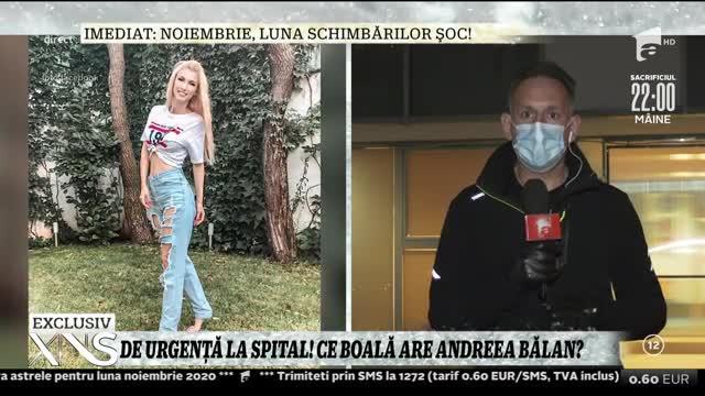 Andreea Bălan, de urgență la spital! Medicii i-au descoperit un hematom abdominal!