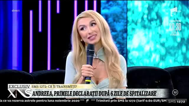 Andreea Bălan, primele declarații după șase zile de spitalizare: Aveam dureri foarte mari la stomac!