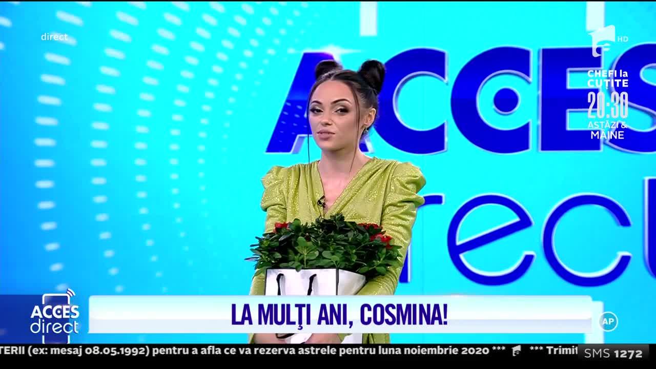 Cosmina Adam își sărbătorește ziua de naștere, în platoul Acces Direct