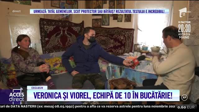 Veronica și Viorel, echipă de 10 în bucătărie! Vecina Iasmina le-a făcut o vizită surpriză soților Stegaru