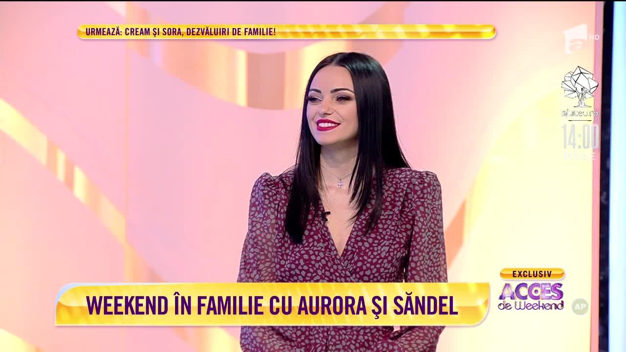 Aurora și Săndel, familie de poveste: Stăm cuminți acasă, cum stă toată lumea în perioada asta!