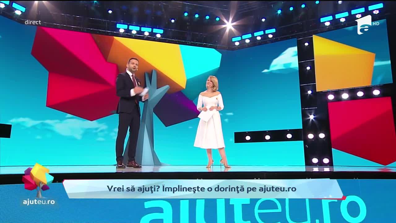 A fost ziua dorinţelor împlinite la Antena 1. Gala-maraton Ajut eu!, lider incontestabil de audienţă