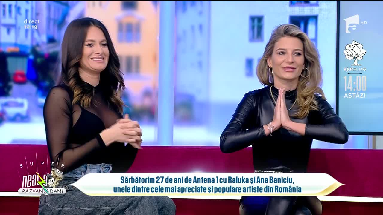 Ana Baniciu și Raluka, ținutele care le pun silueta în valoare. Cum au apărut în direct, la tv