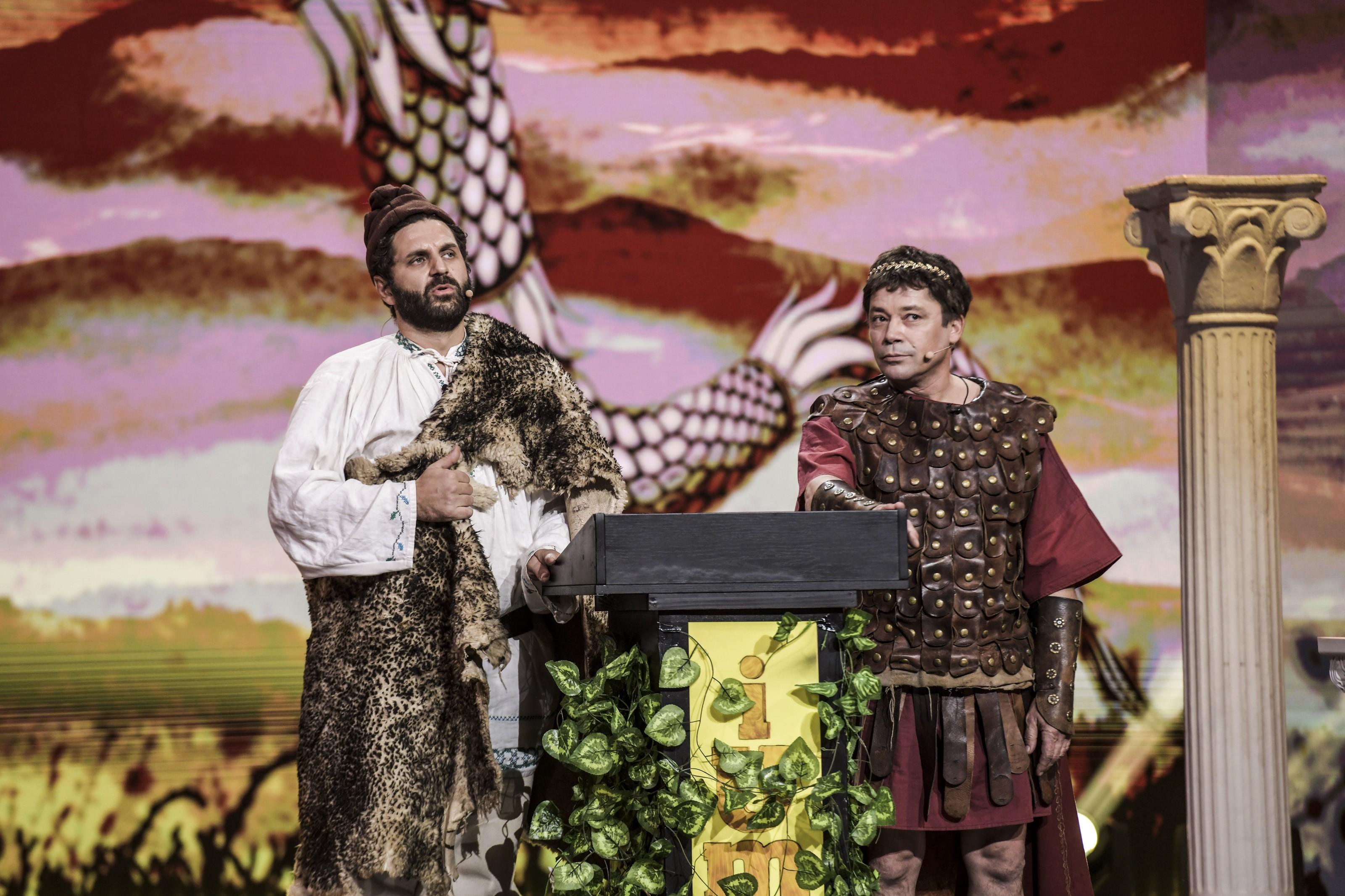 iUmor 1 decembrie 2020 Roast Istoric. Traian și Decebal urcă pe scena iUmor și povestesc cum au pus bazele neamului românesc