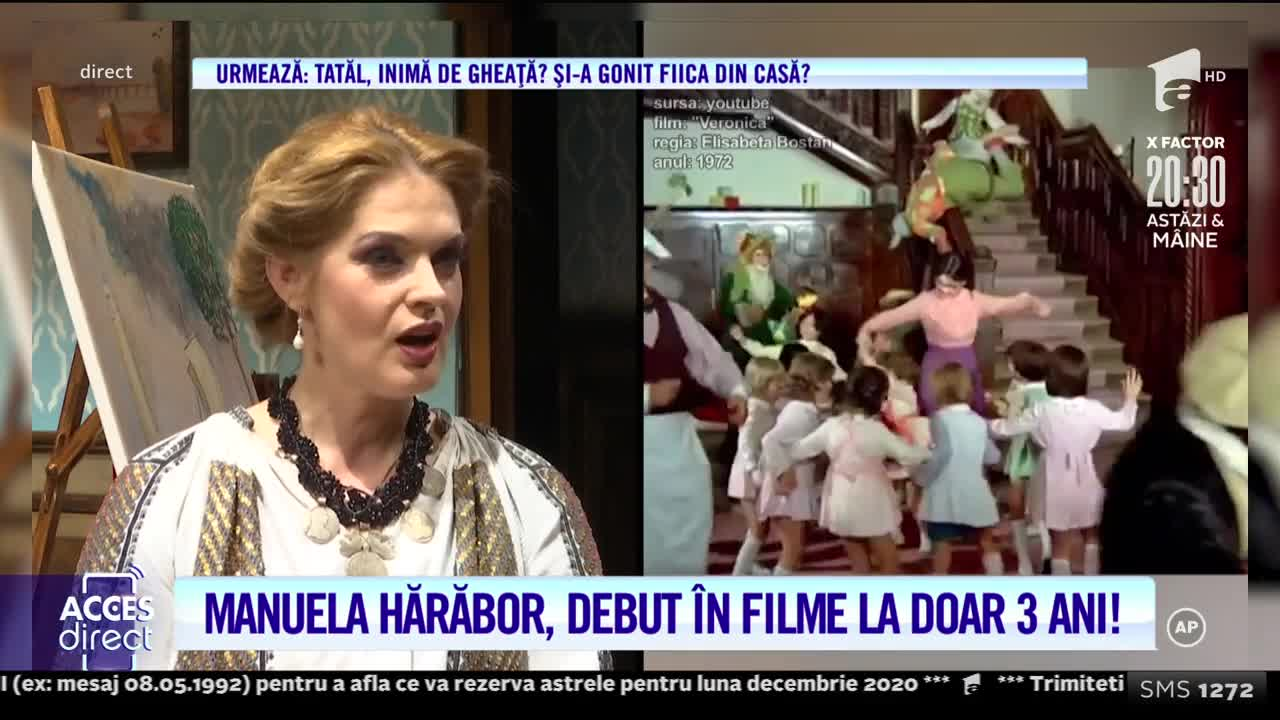 Manuela Hărăbor, debut in filme la doar 3 ani!