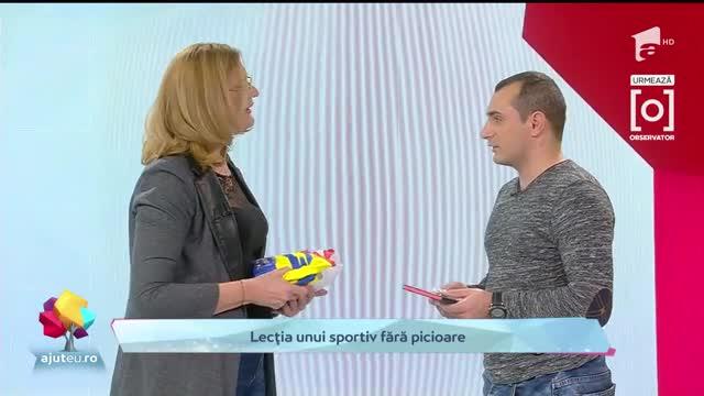 Ajut Eu: Costi Mugea, singurul canotor cu dizabilităţi din România
