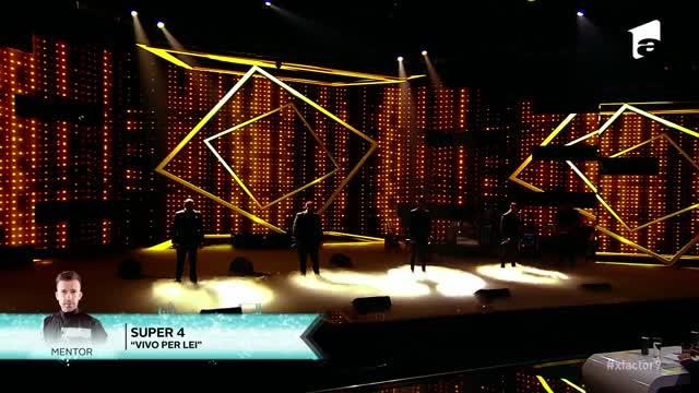 """Finala X Factor 2020. Super 4, momentul fabulos pe care publicul nu-l va uita prea curând: """"Sunt într-o simbioză vocală perfectă"""""""