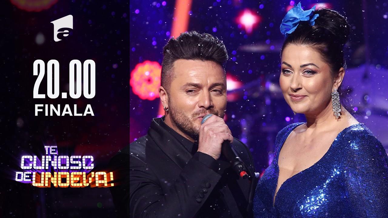 Tavi Clonda și Gabriela Cristea cântă colinde de Crăciun, în Finala Te cunosc de undeva!