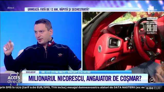 Acuzaţii tulburătoare la adresa celebrului milionar Dan Nicorescu: Nu vrea să îmi dea actele în original!