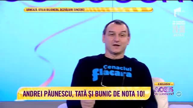 Andrei Păunescu, tată și bunic de nota 10