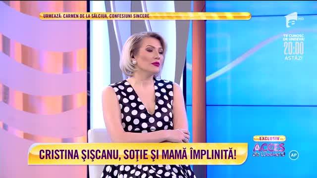 Cristina Șișcanu, soție și mamă împlinită: Petra se simte bine în fața camerelor de filmare!